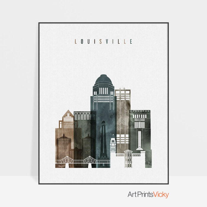 Louisville wall art print watercolor 2