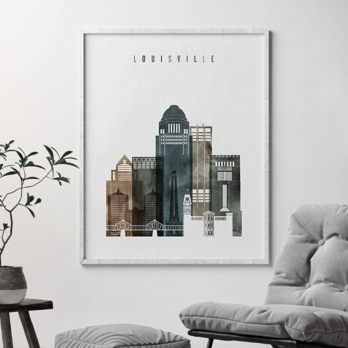 Louisville wall art print watercolor 2 second