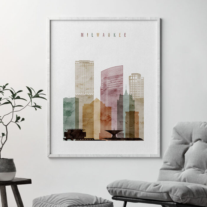 Milwaukee poster watercolor 1 second