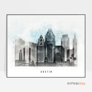Austin poster landscape urban