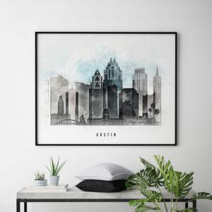 Austin poster landscape urban second