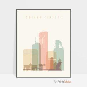 Corpus Christi print pastel cream