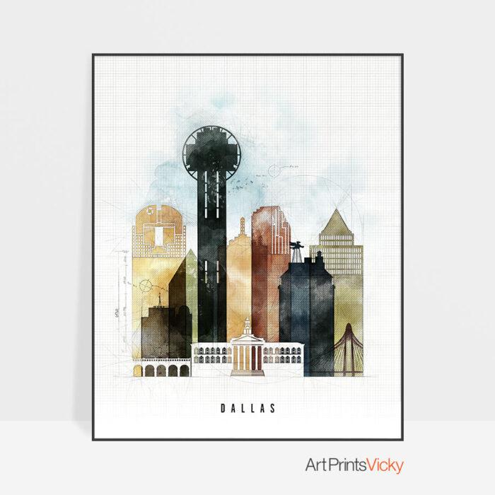Dallas print urban 2