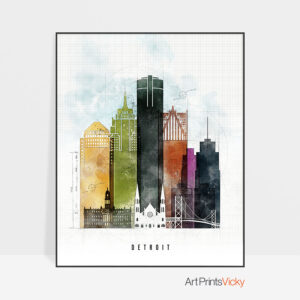 Detroit print urban 2