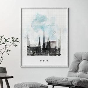 Dublin skyline print urban second