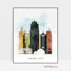 Kansas City print urban 2