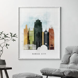 Kansas City print urban 2 second