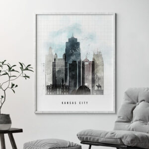 Kansas City skyline print urban second