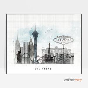 Las Vegas print landscape urban