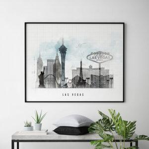 Las Vegas print landscape urban second