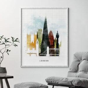 London print urban 2 second