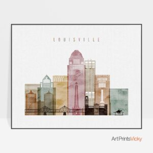Louisville art print landscape watercolor 1