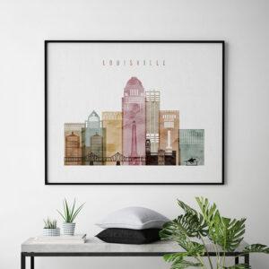Louisville art print landscape watercolor 1 second