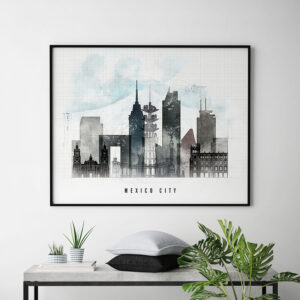 Mexico city poster landscape urban second