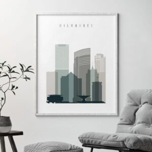 Milwaukee poster earth tones 4 second
