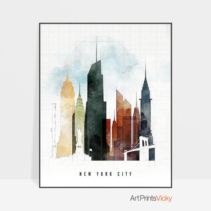 New York City print urban 2