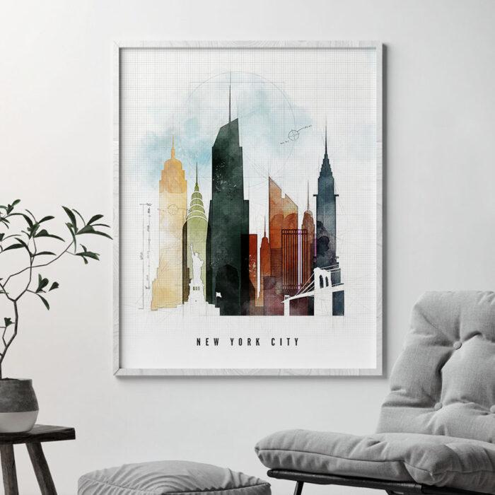 New York City print urban 2 second