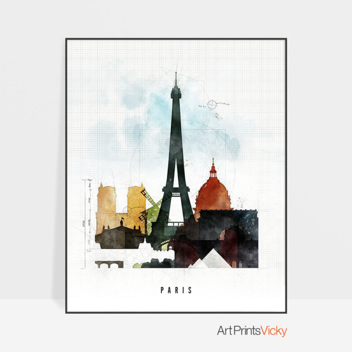 Paris print urban 2