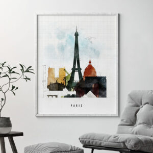 Paris print urban 2 second