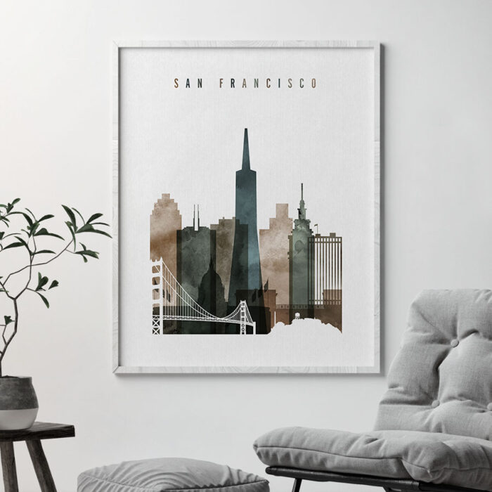 San Francisco art print watercolor 2 second