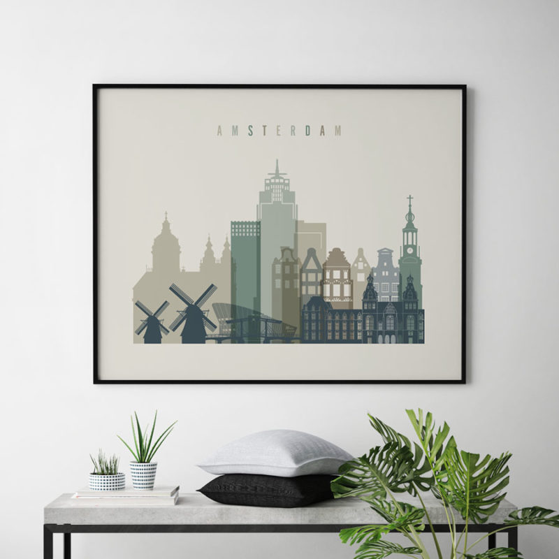 Amsterdam print earth tones 1 landscape second