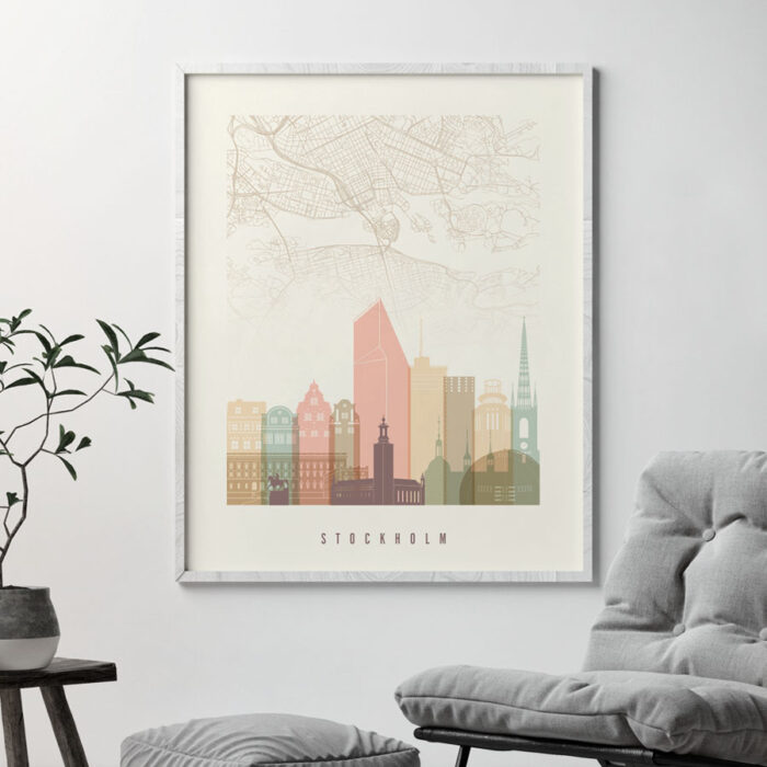 Stockholm map poster second