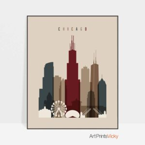 Chicago poster earth tones 2
