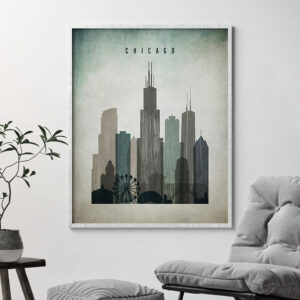 Chicago poster distressed 3 second
