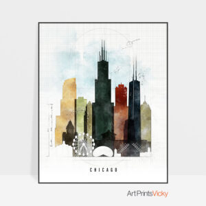 Chicago print urban 2