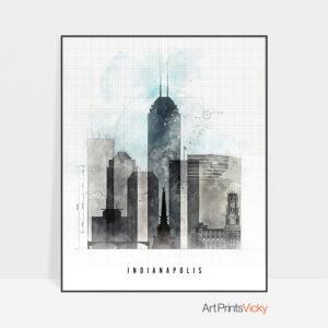 Indianapolis art print urban