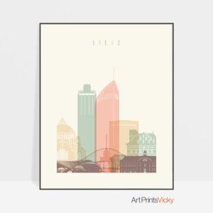 Liege skyline print pastel cream