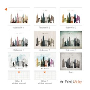9 from 21 color schemes landscape