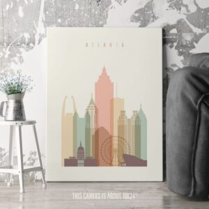 atlanta skyline canvas print second