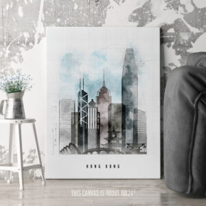 Hong Kong Canvas Print Urban 1 second