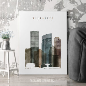 Milwaukee Canvas Art Watercolor 2 second