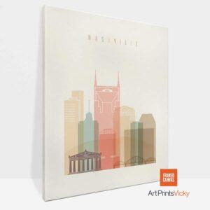 Nashville Canvas Print Pastel Cream