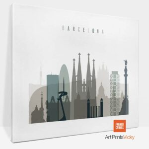 Barcelona Canvas Print Earth Tones 4