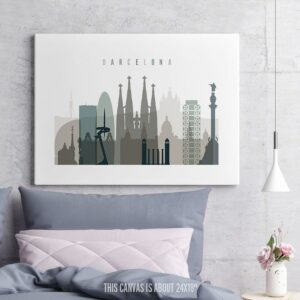 Barcelona Canvas Print Earth Tones 4 second