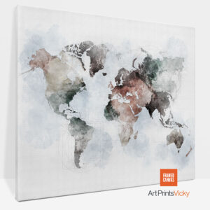 World Map Canvas Print Urban 1