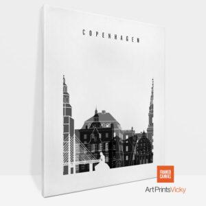 Copenhagen Canvas Black White
