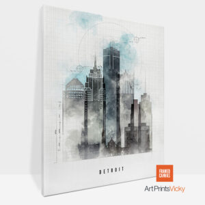 Detroit Canvas Print Urban 1