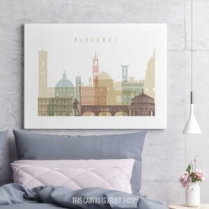 Florence Canvas Prints Pastel White second