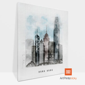 Hong Kong Canvas Print Urban 1