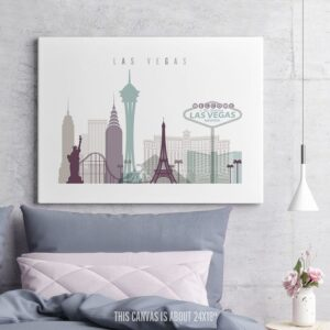 Las Vegas Canvas Print Pastel 2 Landscape second