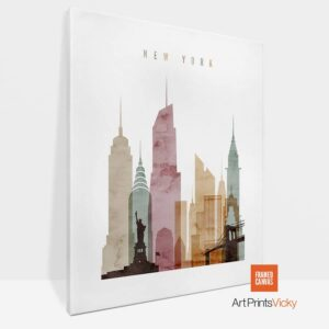 New York Canvas Art Watercolor 1