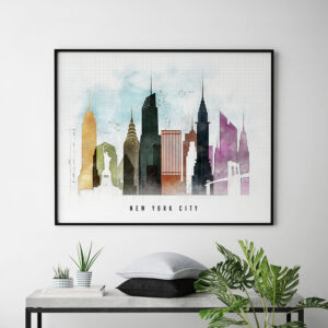 New York Poster Landscape Urban 2 second