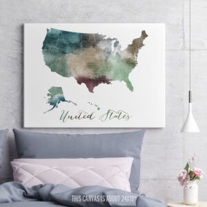 United States Map Canvas Art second