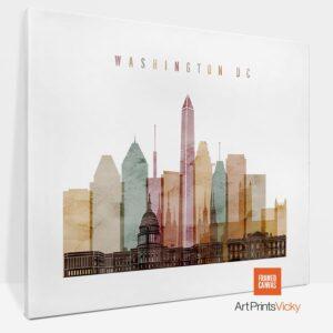 Washington DC Canvas Watercolor 1