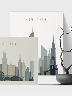 Us City Prints Collection 2 New
