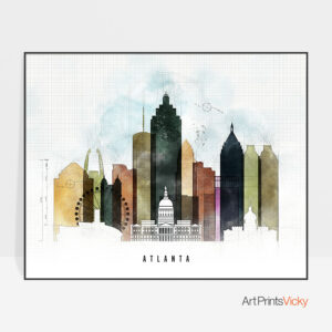 Atlanta City Print Urban 2 Landscape